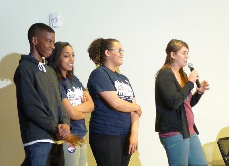 Franklin Pierce High School College Bound students and teacher Kyler Phillips expressing appreciation for the assistance of AmeriCorps members in the schools.